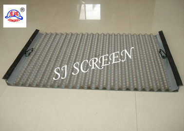 Polygon Hole Shape Oilfield Screens, Waved Oil Vibrating Screen 1050 X 695mm